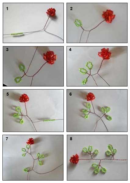 Бисероплетение Розы из бисера